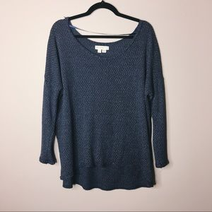 Urban Outfitters High-Low blue sweater Size L